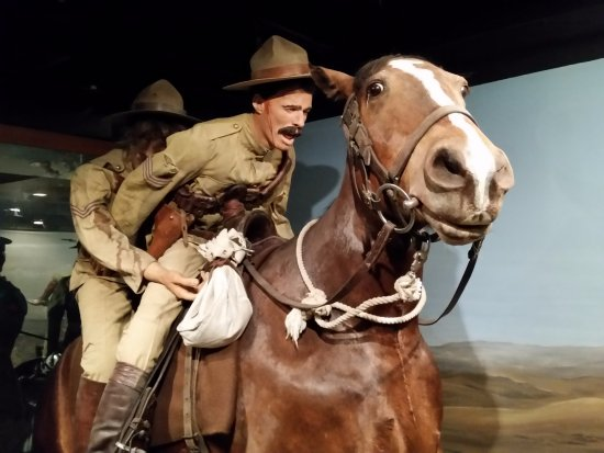 The Military Museums : Wounded soldier saved by comrade during Boer War.