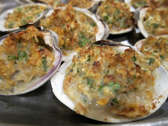 Glade Valley, Kuzey Carolina: Delicious baked Clams