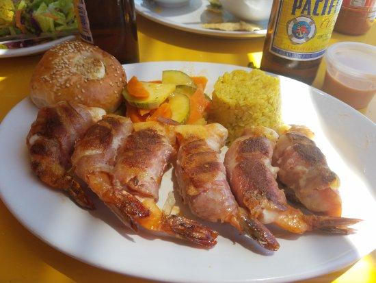 Mariscos La Puntilla: Stuffed shrimp