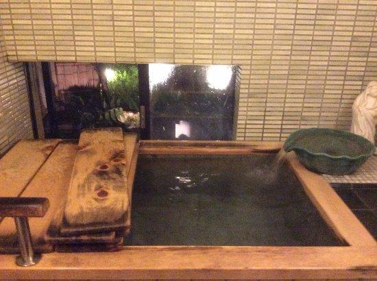 Loved the traditional bath with window on to garden - Picture of Ryokan Sawanoya, Yanaka - Tripadvisor