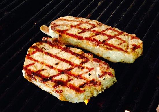 Homewood, AL: We don't just deliver steak. Pork chops are another customer favorite.
