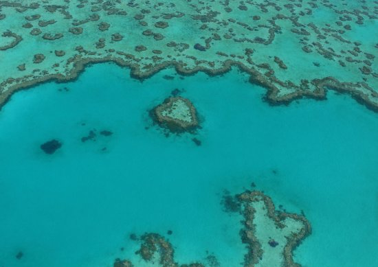 Heart Reef: from air