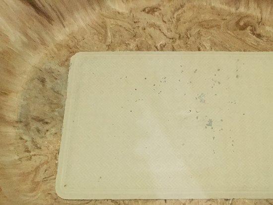 El Cid Ceiba Resort Day Pass: Moldy bath mat in the bathtub.