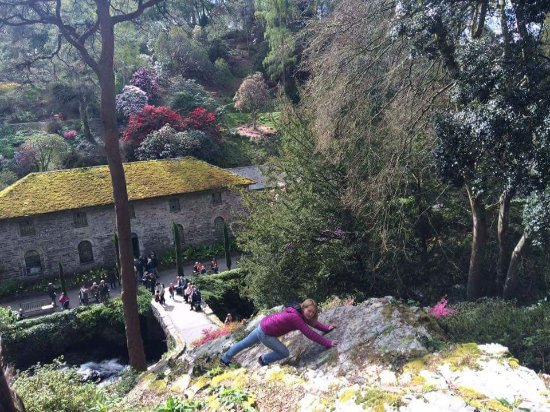 Bodnant Garden: Not really steep - just pretending