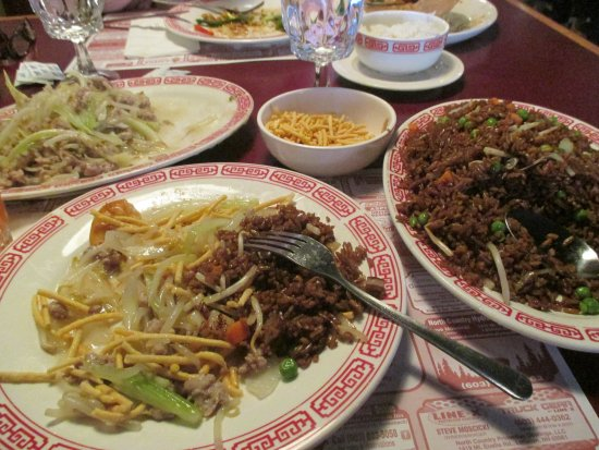 Woodstock, NH: chow mein and fried rice, my meal