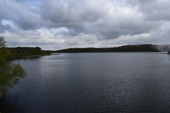 Loughborough, UK: Swithland Reservoir from the train