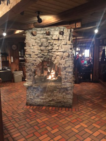 Crystal Lake, IL: The fireplace that makes the Squire so cozy!