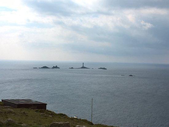 Sennen, UK: View at Longships Lighthouse