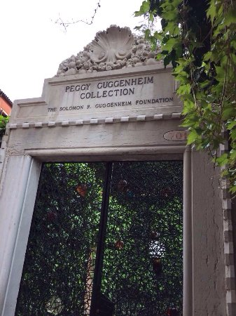 Views from the tip of the Dorsoduro and the gate to the Peggy Guggenheim Collection.