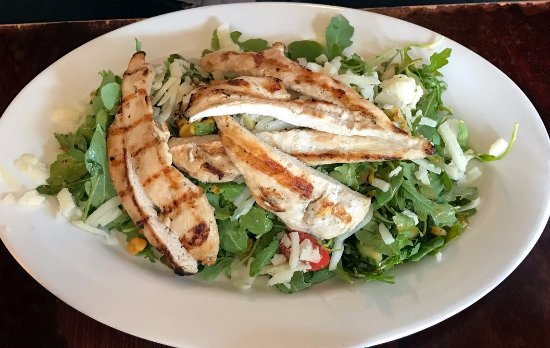 Ridgefield, CT: roasted corn salad with chicken