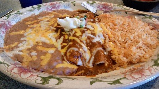 Dayton, WA: mole enchilada