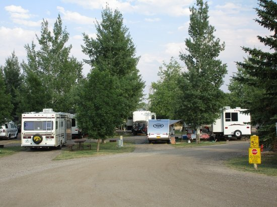 Buffalo, WY: larger sites than most other KOA's