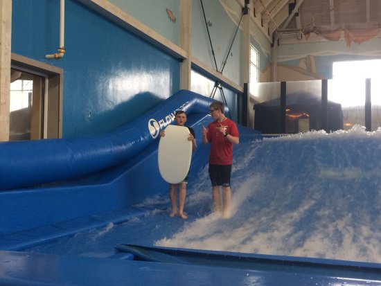 Sheboygan, WI: My son getting taught how to do tricks on the Riptide by an awesome employee named Jerry.