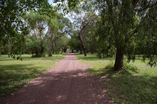 Territorio del Norte, Australia: Looking back from the billabong walk to the campsites