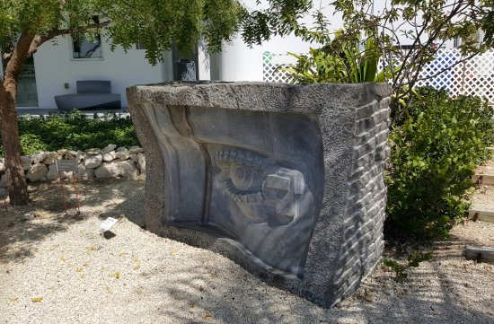 George Town, Grand Cayman: One of the larger pieces in the sculpture garden of the Cayman National Gallery.