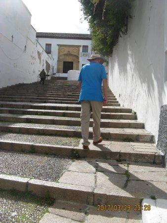Cristo de los Faroles: Walking up to Cristos de Los Faroles