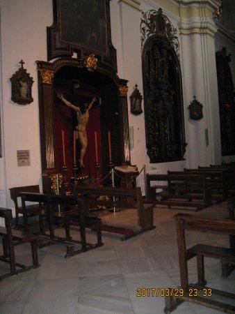 Cristo de los Faroles: Church interior Cristo de los farols