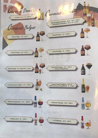 El Albir, España: pag7 of the beers