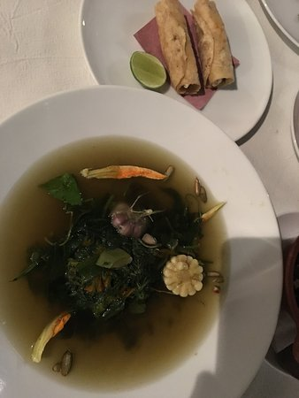 Casa Oaxaca: Quelites soup, Catch of the day, and the Ribeye