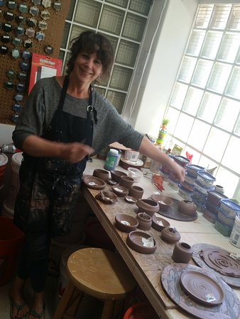 Studio Z: Laura will fire and glaze all our treasures and ship them to us.
