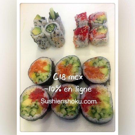 Sainte-Therese, Canadá: Commander en ligne -10% pour emporter et -5% pour livraison:  www.sushi enshoku.com