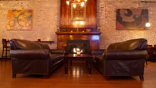 Grayslake, IL:  Cozy fireplace seating.