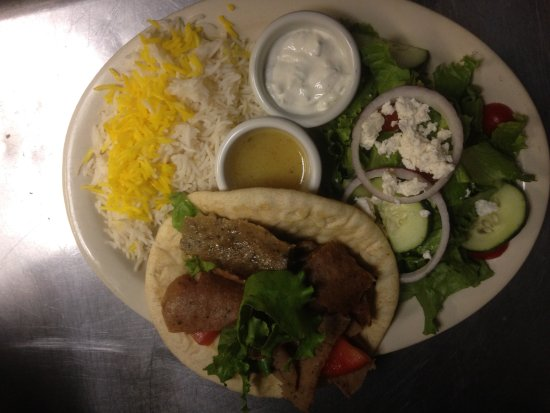 Pars Cuisine: Gyros Salad And  Chelow