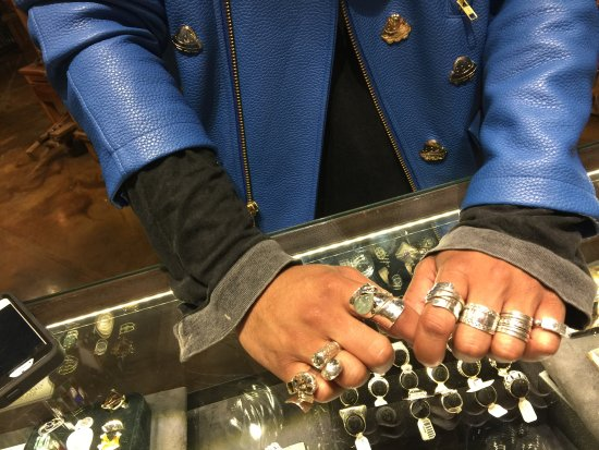 Mx Mexican Silver Jewelry Customers Enjoying A Wide Selection Of Rings