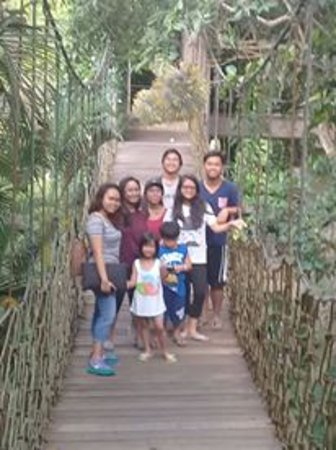 Valentino Resort and Spa: Cousins on the hanging bridge