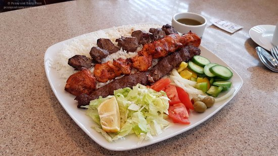 Combo kabab picture of aria kabab house grill burnaby for Aria grill cuisine