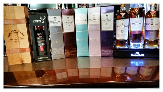 Weston, WI: Great whisky selection(over 70 on hand) including these Macallan