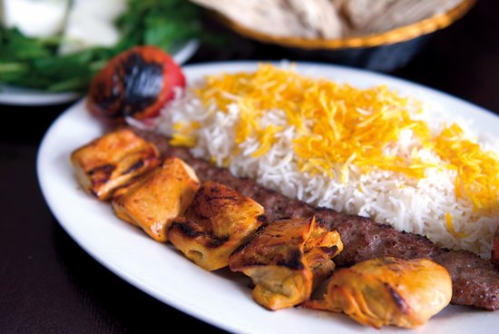 Modesto, CA: Saffron Chicken with Lula Kabob