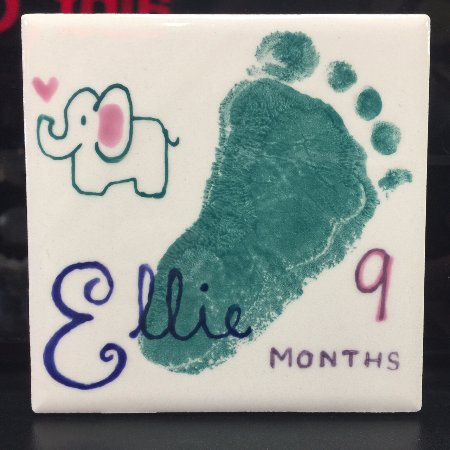 "Overland Park, KS: Free 4"" tile keepsake tile for newborns up to 18 months old"