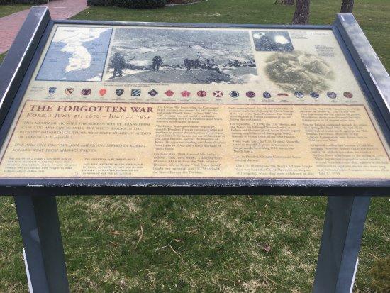 Barnstable, MA: Information sign at Korean War Memorial