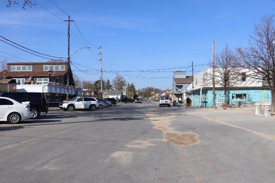 Walker street Port Dover Ontario Canada looking from the beach