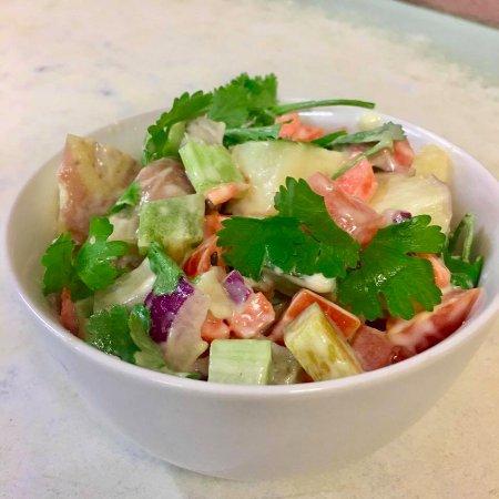 Cow Bay, Australia: A Rainbow Potato Salad - so pretty