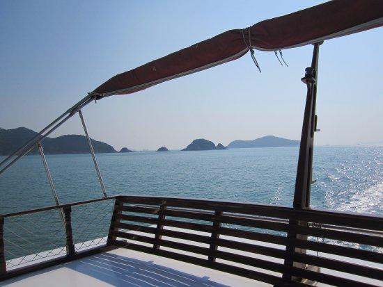 Island Junks: Hong Kong Island from Jura