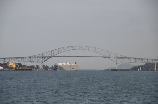 Panama Canal Tours: The Bridge of the Americas near Panama City at the Pacific Ocean