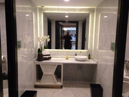 La Clef Tour Eiffel Paris Hotel Lobby Bathroom Mens Room Left Womens