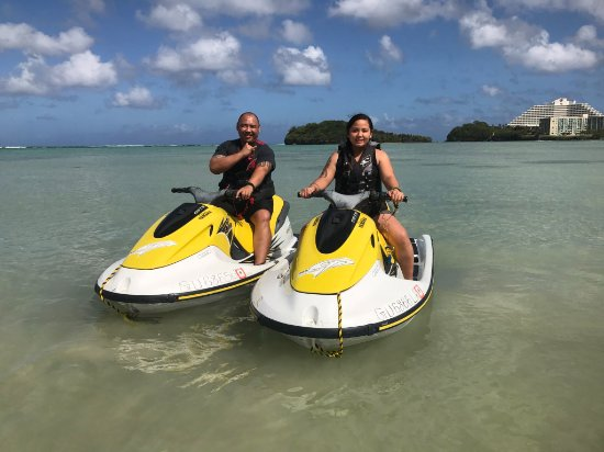 Guam Jet Ski: a quick photo before we head to Ague Cove.