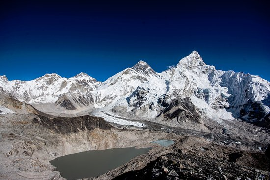 Kathmandu Valley, Nepal: An adventure of life time Everest Base Camp Trek. View of Mt. Everest  from Kalapatthar.