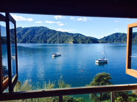 Arthurs Bay, Neuseeland: View from Room 101