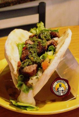"Blacksburg, VA: At Gaucho when you mix Pita bread with Taco you have a ""Pitaco"", coming soon!!"