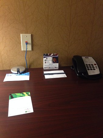 Ridgecrest, CA: Telephone and information on the desk