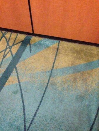 Ridgecrest, CA: Elevator floor carpets.