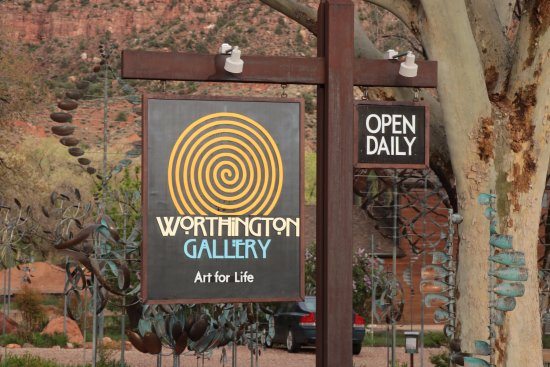 Springdale, UT: Worthington Gallery - sign