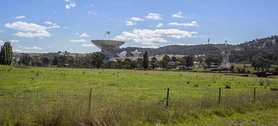 Canberra Deep Space Communication Complex: View of the radio telescopes