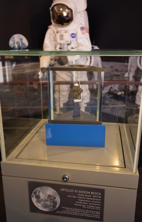 Canberra Deep Space Communication Complex: Genuine moon rock from the Apollo XI mission