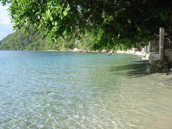 Davao City, Filipinas: now the beach is cover
