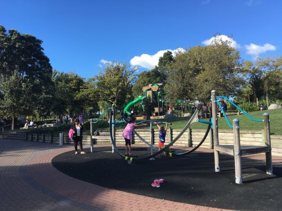 Hamilton, New Zealand: As usual the playground caters for all age groups